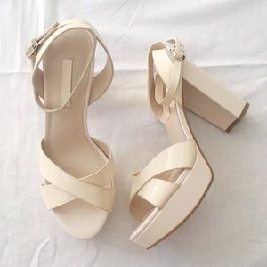 6dfd4c0d65c Staccato Ankle Strap Patent Sandal Heel in Blush